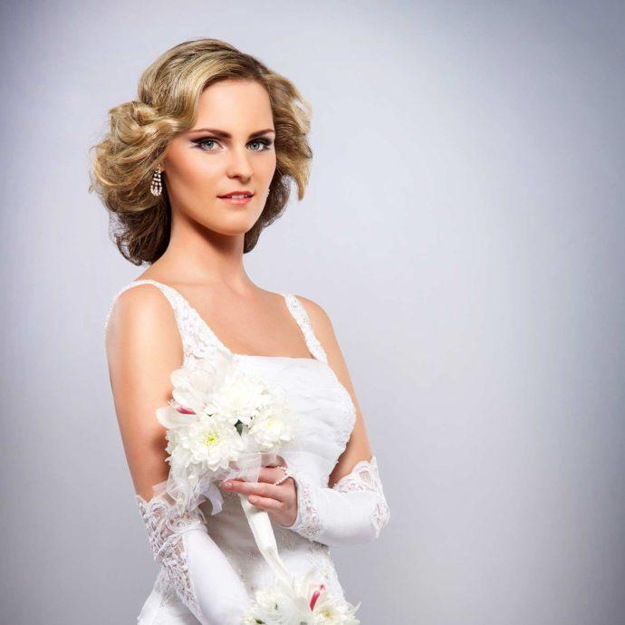 Brautkleid mit Carré Ausschnitt
