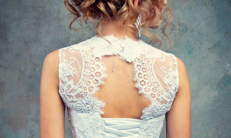 Brautkleid Spitzenstickerei