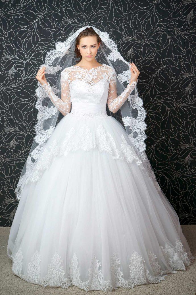 Brautkleidstoff Tüll