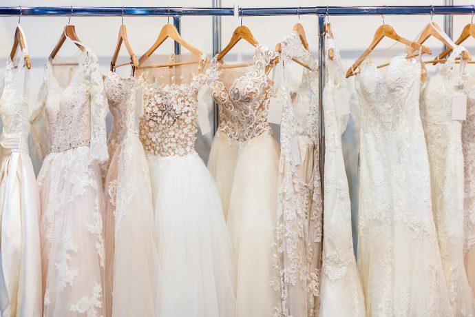 Brautkleid in Elfenbein