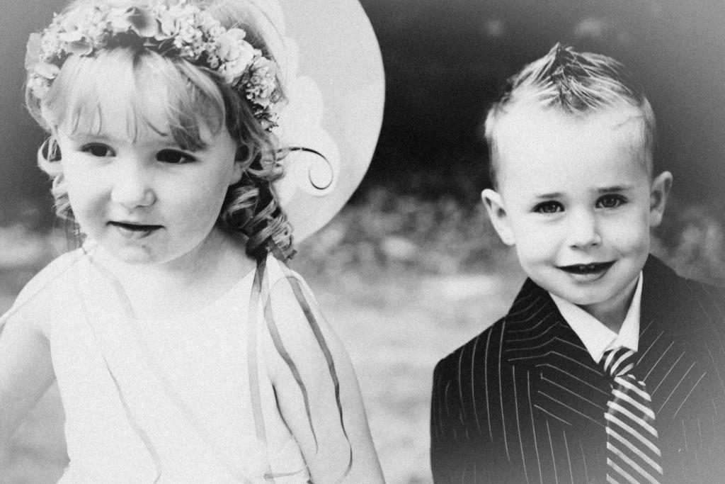 Die Top 8 der tollsten schwarz-weiß Aufnahmen einer Hochzeit Kinder