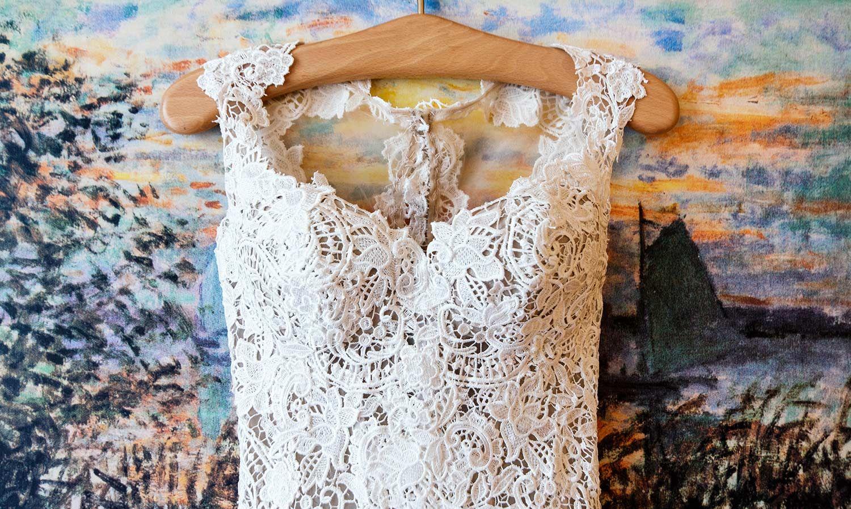 Schlicht brautkleider spitze creme Traumhafte Brautkleider