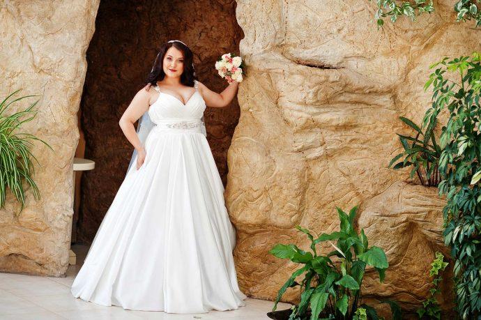 Brautkleid in Übergröße