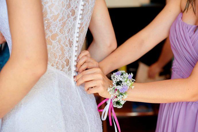 Brautkleid schnüren knöpfe