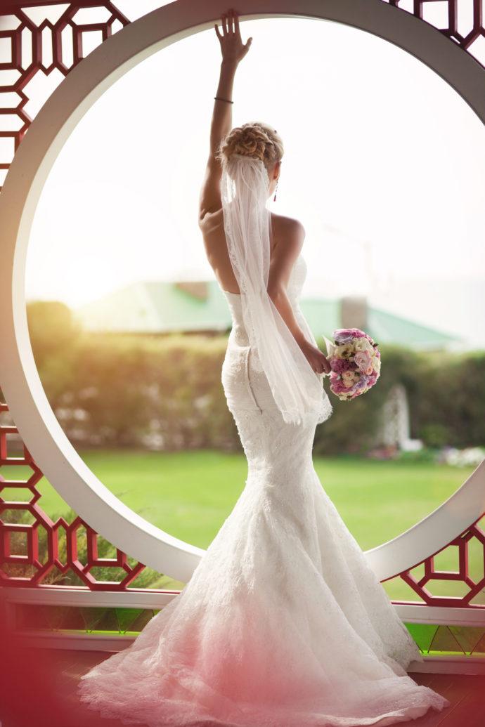 Brautkleid mit Reißverschluss