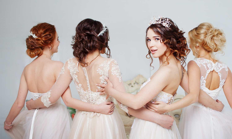 Brautfrisuren offen mit schleier und diadem
