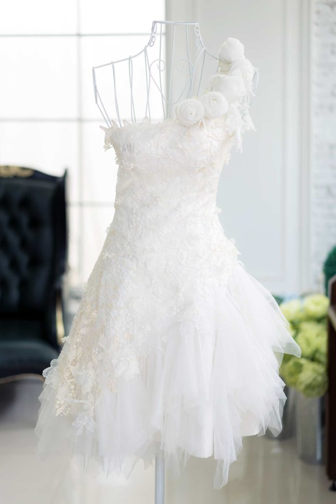 kurze Brautmode