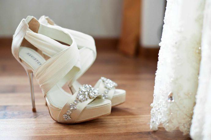 Brautschuhe mit Absatz