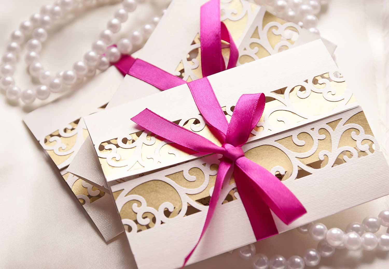 Einladungskarte zur Hochzeit