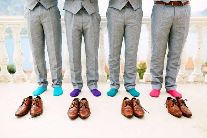 Socken für die Hochzeit