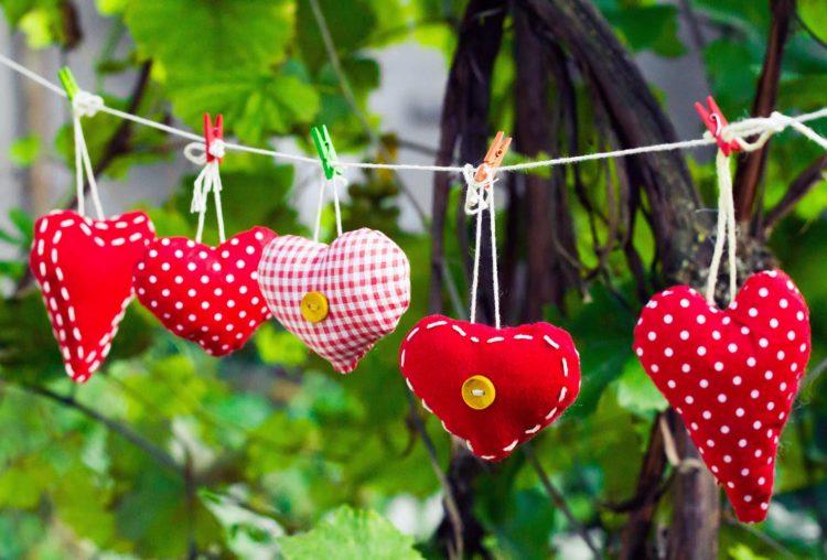 Genial Einfach! – DIY Herzanhänger nähen für die Hochzeitsdeko