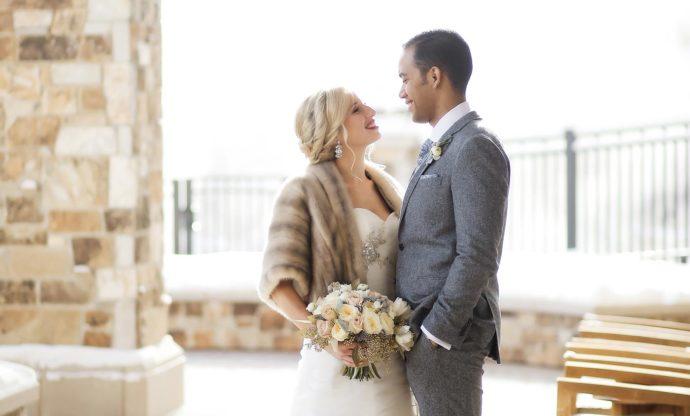 Braut Stola zum Winter