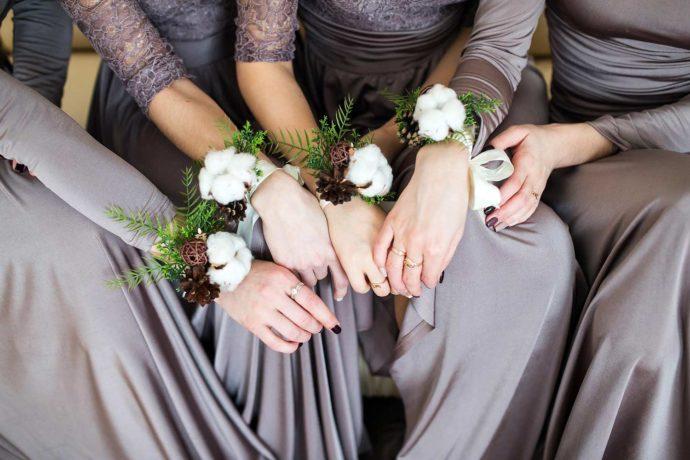 Brautjungfernkleider Winter