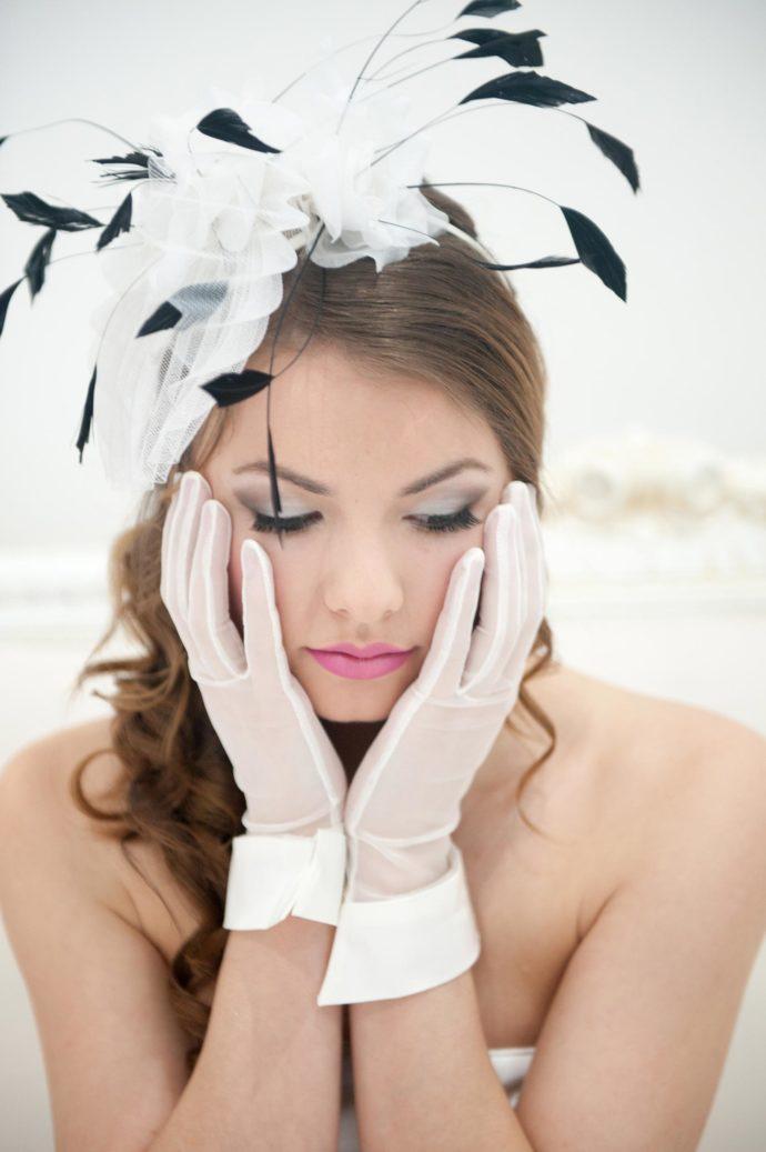Braut Handschuhe 50er Jahre