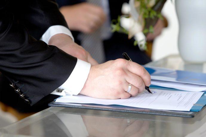 Dokumente Hochzeit