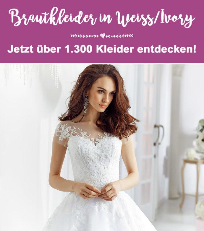 Brautkleider Weiß und Ivory