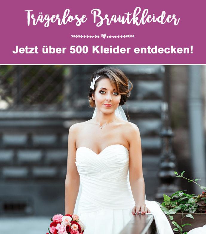 Trägerlose Brautkleider